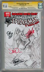 Amazing Spider-man #546 Sketch Variant CGC 9.6 Signature Series Signed x4 Stan Lee Marvel